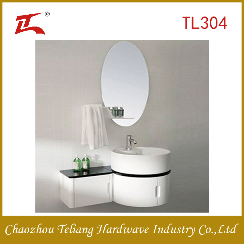 round bathroom cabinet vanity with mirror and side cabinet alibaba