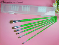 China supplier 6 pcs one set horse hair+wood handle painting brush for oil painting