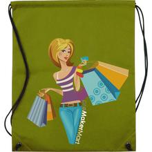 Drawstring Non Woven Cloth Bag, Economy Promotional Shopping Drawstring Non Woven Cloth Bags with Picture Print, PromoMakerMart