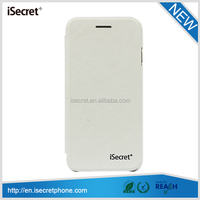 Promotion! iSecret leather wallet card slot design cell phone leather case for iPhone 6 & 6 Plus