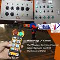 el mando a distancia inalámbrico de control de camiones bomba de hormigón montada con mezclador