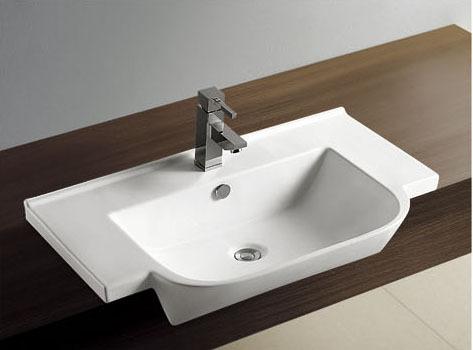 Domo blanco para lavamanos de cer mica del fregadero for Fregadero ceramica