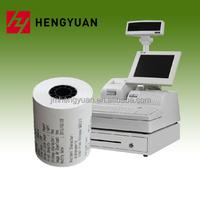 Plastic core thermal paper cash register paper register roll