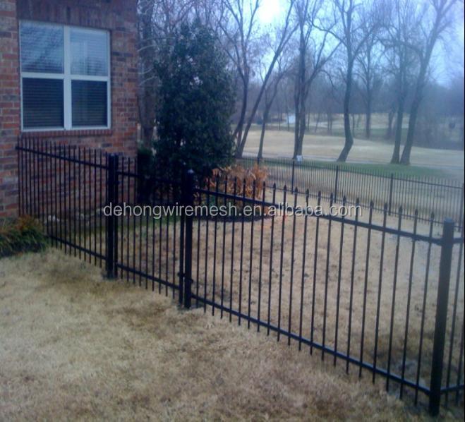 Cheap ornamental wrought iron fence designs prefab
