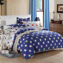 Top quality fancy sky and stars pattern kids favorite 100% cotton bed sheets manufacturers in china