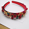 european baroque crystal hair jewelry, bridal flower headband(SWTJU444)