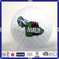 china made high quality custom logo golf ball
