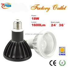 high power narrow beam angle high lumen led par 38 light, cob led par light par30 par20