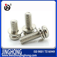 Stainless steel phillips pan head assembly screw with spring washer