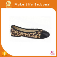 2015 Wholesale leopard foldable shoes after party shoes with pouch