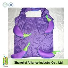 Eco-friendly Fruit Shopping Bag Purple Eggplant Folding Compression Bags Novel Advertising Bag Wholesale ALD1121