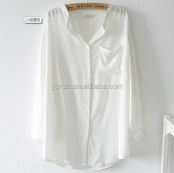 2015 new fashion ladies casual shirts pictures white women shirt mandarin collar shirts for office ladies