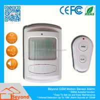 PIR Motion Sensor GSM SMS Alarm with Auto Dial and SMS Talk Function