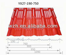 Color corrugated metal steel sheet for roofing sheet as construction material