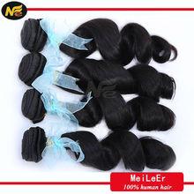 High feedback natural color, 100% raw virgin brazilian loose curl hair