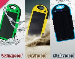 2015 best selling solar power bank 5000mAh portable mobile powerbank charger for mobile phone
