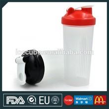 2015 de proteína de suero concentrado de bebida de proteína baratos de proteína de suero de leche botella de la coctelera