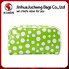 Wholesale high quility leather clear vinyl travel cosmetic bag dot print plastic cosmetic bag
