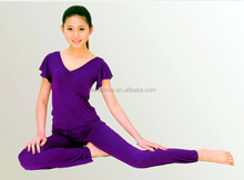 Han edition of lotus leaf sleeve clothing fitness yoga clothing wholesale summer suit more moda