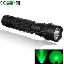 WF-501B Green LED Flashlight 1-Mode Green light black Flashlight
