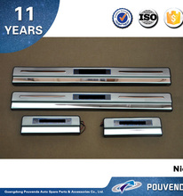 Stainless Steel LED Door Sill Scuff plate For SYLPHY 2012+ with light cable (outside) ,Auto accessories from pouvenda