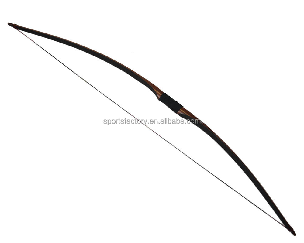 Chasse tir l 39 arc en bois traditionnel longbow arc for Arc et types