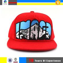 plain snapback flat bill cap and hat