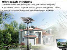 Wireless Solar Power CCTV Camera High Definition AP P2P 1MP HD H.264 Onvif IR Security Recording