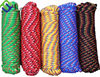 Colored polypropylene braided rope