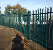 Green Palisade Fence / Security Steel Palisade Fence / W Profile Single Spike Palisade Fence (Factory Price & Fast Delivery)