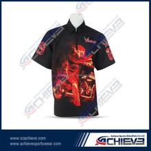 Cool Custom made sublimation mens wear racing shirts