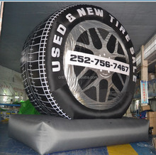 inflatable tire balloon for advertising, advertising inflatable tire balloon