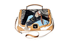 Pony shoulder ladies bag handbag cross body bag messenger bag AG1516841WHT