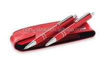 Hot style colorful ball pen and mechanical pencil with pen pouch