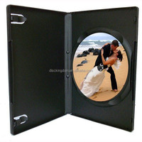 Plastic recycled Carry cd dvd case disc storage holderwith cd printing