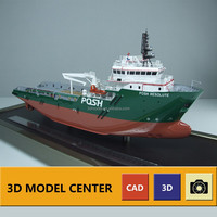 Custom tugboat ship model