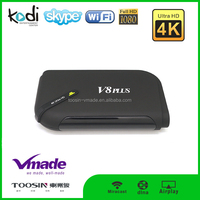 Android Smart TV Box V8 plus Amlogic S812 android 4.3 quad core tv box 4k android tv