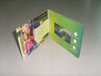 2.4 inch lcd video voice recording greeting cards for birthday