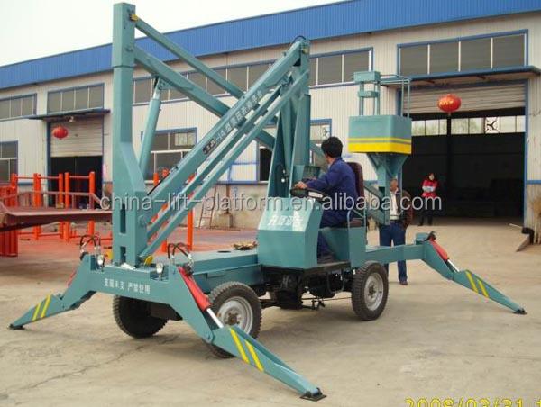 Hydraulic boom lift table rotating work platform buy for Large motorized rotating platform