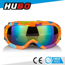 high quality kid ski helmet goggle snow googles with CE certification