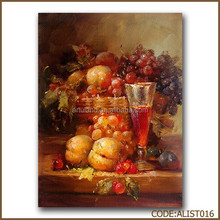 Still life fruit oil painting of goblet