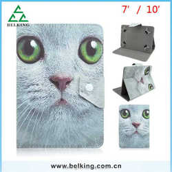 Animal Cat Flip Leather Case For Universal 7/10inch Tablet