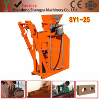 China factory manufacturing SY1-25 cheap clay brick making machine prices, best clay brick making machine for sale