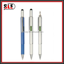 Mmultifunctional stylus touch Enigneer ballpen with screwdriver, spirit level and ruler