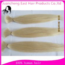 Raw human hair bulk 100% remy human hair extensions blond color raw hair