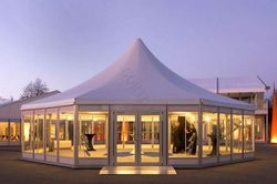 new style double layer outdoor glass tent