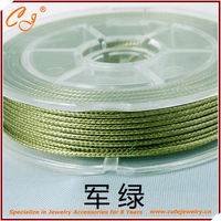 Korean Wax Cord 2.0mm 6 meter waxed round nylon cord in spool in Tarmac Green