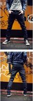 Мода Англии длинные джинсовые Мужские дизайнерские джинсы, тонкие прямые джинсы мужчин хлопка, Дизель случайные подходят разорвал разорванный мужчин джинсы брюки