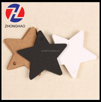 2015 new arrive star shape popular durable craft wholesale plain clothing hang tag