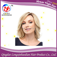 Full Swiss Lace Peruvian Virgin Hair Natural Hair Wigs Body Wave, Blonde Ombre Color Full Lace Wig Wholesale Price